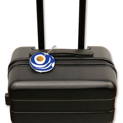 Luggage tag, circle blue