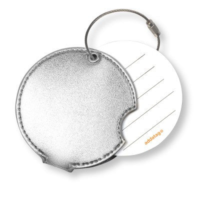 Luggage tag, silver