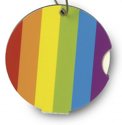 Luggage tag, rainbow