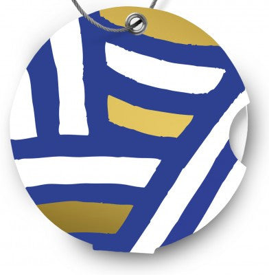 Luggage tag, zebra blue