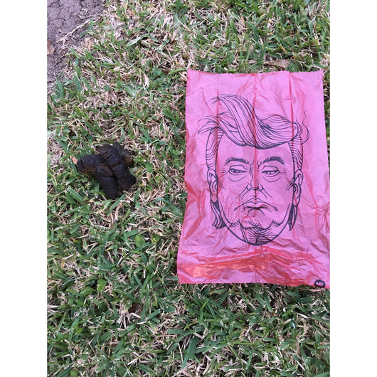 Trump and Hillary Poop Bags by Metro Paws Sold by Pupology Dog Boutique