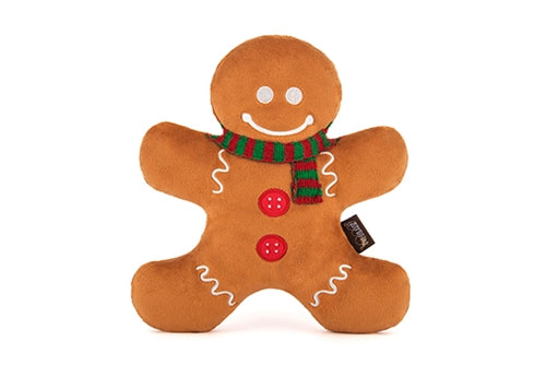 P.L.A.Y. - Pet Lifestyle and You Classic Holiday Plush Gingerbread Man Toy Sold by Pupology Dog Boutique