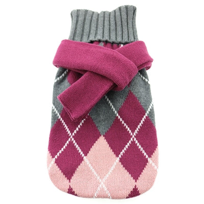 Purple and Pink Argyle Sweater with Scarf by Doggie Design Sold by Pupology Dog Boutique