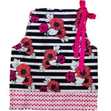 Pink & Orange Poppies Doggy Dress (Medium Only)