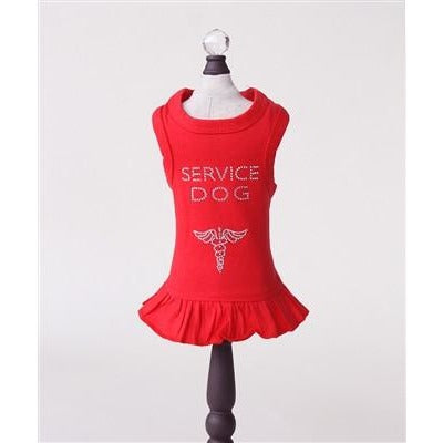 Service Dog Dress in Red by Hello Doggie Sold By Pupology Boutique