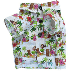 Dog Threads Hawaiian Hula Girl BBQ Shirt Sold at Pupology Dog Boutique