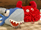 Sharky the Squeaky Plush Dog Toy