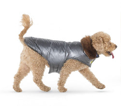 Metallic Puffer Coat for Dogs