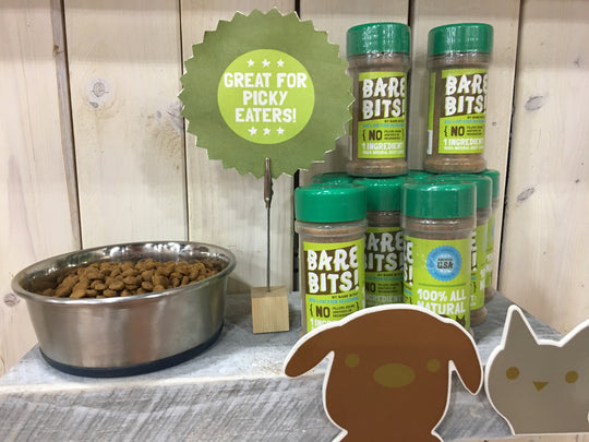 Bare Bits beef liver seasoning sold by Pupology dog boutique
