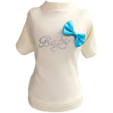 Baby Blue Bow Tee by Hello Doggie for Pupology Boutique