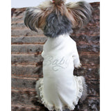 Baby Lace Luxe Dress by Hello Doggie Sold By Pupology Boutique
