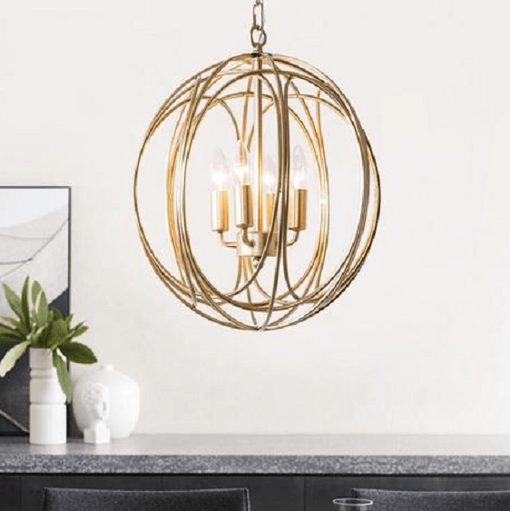 Arbor - Modern Hanging Cage Lamp - A&T Creative