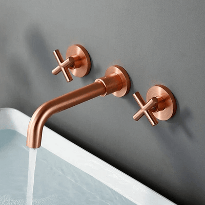 Bertinelli - Double Cross Handle Wall Mounted Faucet - A&T Creative