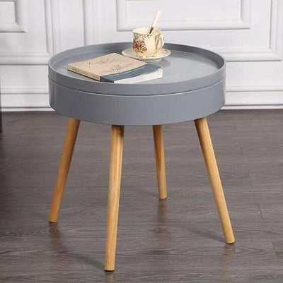 Carson - Modern Nordic Storage Round Side Table - A&T Creative