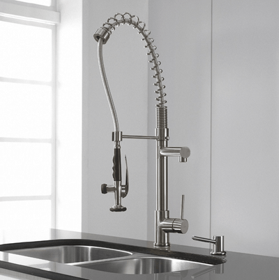"28.5"" Chrome Swivel Spout Modern Kitchen Faucet 5800-55s"