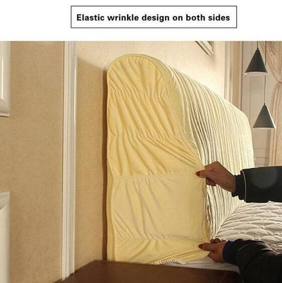 Dacia - Modern Elastic Dustproof Full Headboard Bed Cover with Pocket - A&T Creative