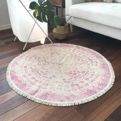 Ember-Vintage Distressed Cotton Rug - A&T Creative