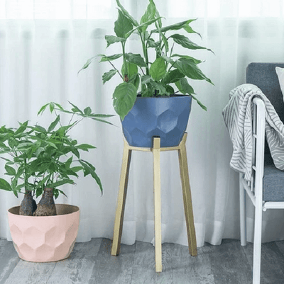 Koa - Geometric Modern Nordic Planter with Stand - A&T Creative