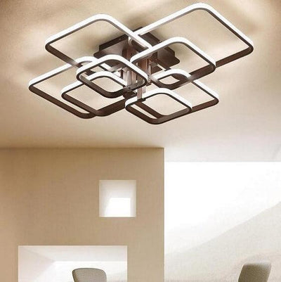 Layered Square Modern LED Chandelier - A&T Creative