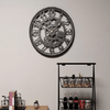 Linden - Cogs & Gears Wrought Iron Clock - A&T Creative