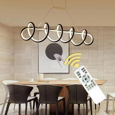Modern LED Curly Light Fixture