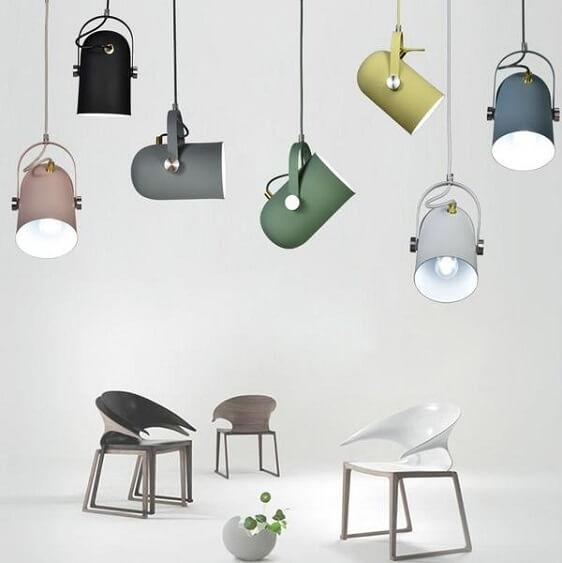 Modern Nordic Angled Drop Light