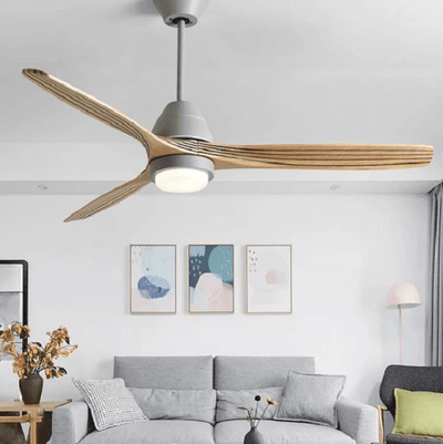 Modern Nordic Ceiling Fan with LED Light - A&T Creative