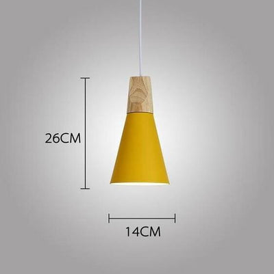 Modern Nordic Wooden Base Hanging Light