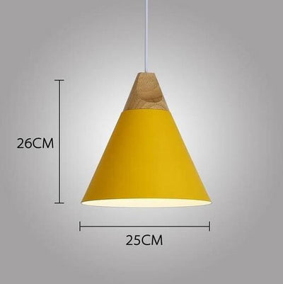 Modern Nordic Wooden Base Hanging Light - A&T Creative
