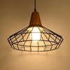 Modern Nordic Wrought Iron Hanging Cage Lamp - A&T Creative