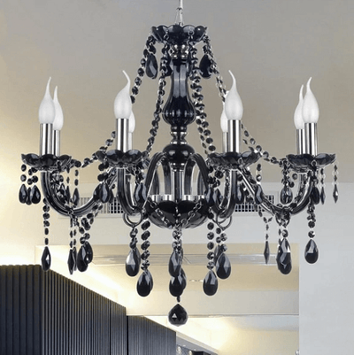Modern Retro Drop Crystal Chandelier - A&T Creative