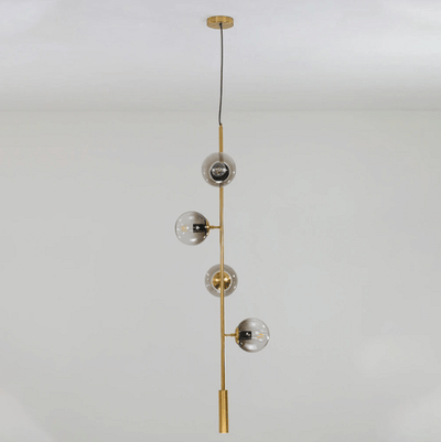 Olive Tree Branch 4 head Vertical Line Chandelier - A&T Creative