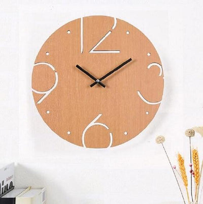Perry-Number Hollow Out Wooden Clock