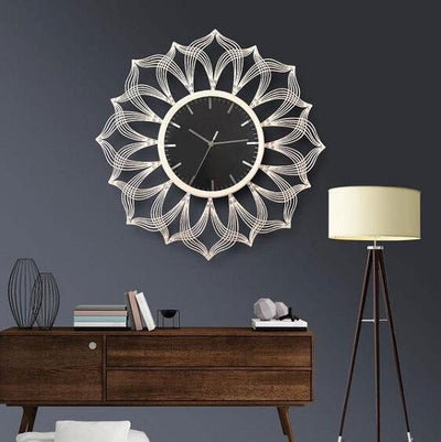Sacha - Large Silent Modern Clock - A&T Creative