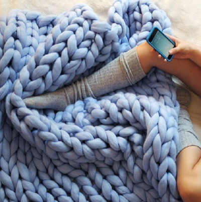 Handmade Chunky Knit Blanket - A&T Creative