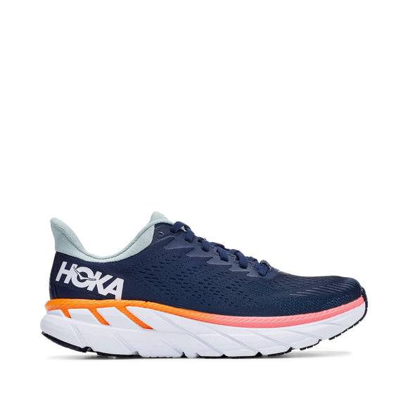 Hoka One One Women's Clifton 7 Black Iris & Blue Haze (B or D Width)