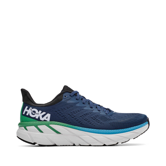 Hoka One One Men's Clifton 7 Moonlit Ocean/Anthracite (D or 2E Width)