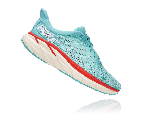 Hoka One One Women's Clifton 8 Aquarelle/Eggshell Blue (B Width) AVAILABLE JUNE 2021