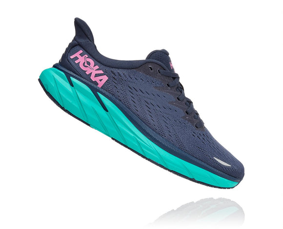Hoka One One Women's Clifton 8 Outer Space/Atlantis (B or D Width) AVAILABLE JUNE 2021
