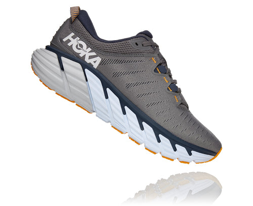 Hoka One One Men's Gaviota 3 Charcoal Grey/Ombre Blue (D or 2E Width)