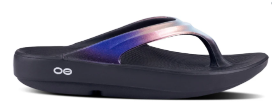 Oofos Oolala Luxe Women's Flip Flop (Black & Calypso) LIMITED SIZES