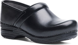 Dansko Women's Pro XP Clog - Black Cabrio Leather WIDE