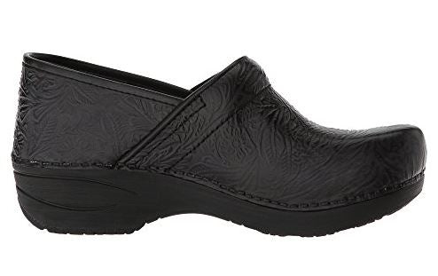 Dansko Women's Pro XP 2.0 Clog - Black Floral Tooled Leather