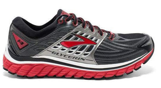 Brooks Men's Glycerin 14 Anthracite/Red (D Width)