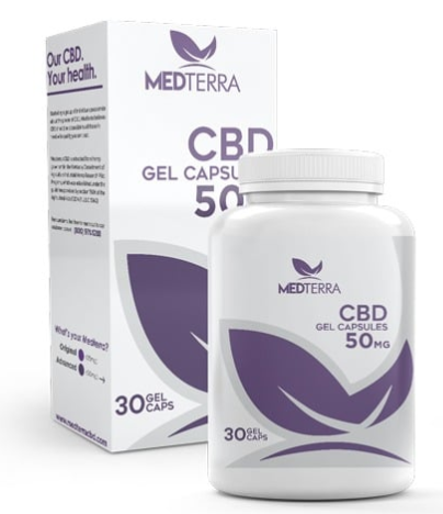 Medterra CBD 50mg Gel Capsules 30ct