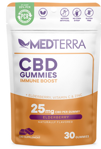 Medterra CBD 25mg Immune Boost Gummies (Trail Size 5 Count Package)