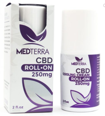 Medterra CBD Hemp 250mg Rapid Cooling Cream Roll-on 2.0 oz