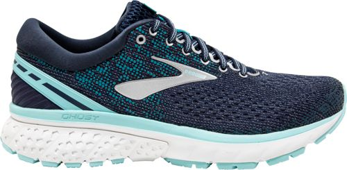 Brooks Women's Ghost 11 Running Shoe, Navy/Grey/Blue (B Width)