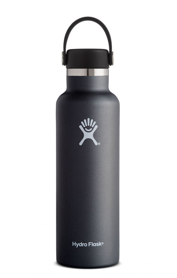 Hydro Flask Black 21 oz Standard Mouth Water Bottle
