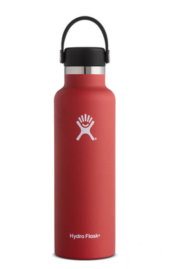 Hydro Flask Lava Red 21 oz Standard Mouth Water Bottle